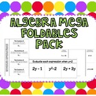 Algebra Mega Foldables Pack for Interactive Notebooks {Com