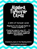 Algebra Turn Over Cards - 5th Grade Math in Focus