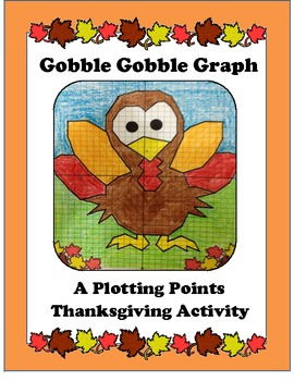 Algebra:Thanksgiving Graph or Plotting Points Activity, Turkey
