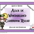 Alice in Wonderland Classroom Rules