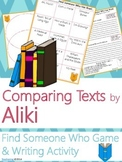 Aliki Author Study {Comparison & Contrast Writing and Game}
