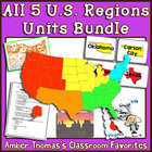 All 5 U.S. Regions Unit Plans:  Bundle of 5 Separate Units
