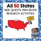 All 50 States - Mega Bundle of Mini Book Research Activiti