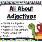 All About Adjectives - 5 Sets of Task Cards