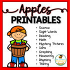 All About Apples - Print & Go Back to School Activities