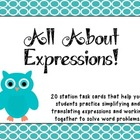 All About Expressions Task Cards