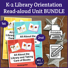 All About Libraries & Book Care Unit (K-2 Activity Booklet