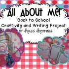 All About Me! Back to School Creativity and Writing Project