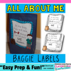 All About Me Bag Labels {Back to School}