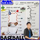 Baseball All About Me Printable