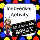 Icebreaker Activity: All About Me Essay Packet
