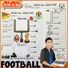 Football All About Me Printable