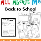 First Day of School - All About Me Books (2 options)