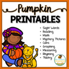 All About Pumpkins - Print & Go Pack