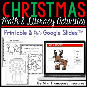 All About Rudolph - Print & Go Activities