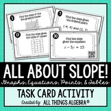 All About SLOPE! Task Cards - with QR Codes