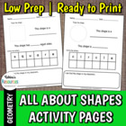 All About Shapes Activity Pages