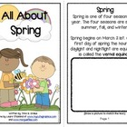 All About Spring Informational Text Interactive Reader