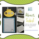 All About Subs {Informational Text, Writing, and Craftivity!}