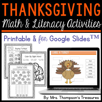 All About Turkeys - Print & Go Thanksgiving Activities