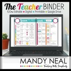 All-In-One Teacher Planner (Live Free:  Love Life)