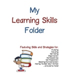 All-Inclusive Learning Skills and Strategies Folder - Blue & Red