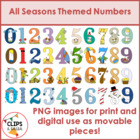 All Seasons Themed Numbers BUNDLE for Commercial and Personal Use