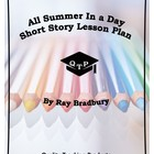 All Summer In A Day Lesson Plan with Answers Ray Bradbury