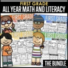 All Year Math and Literacy NO PREP The BUNDLE (1st Grade)