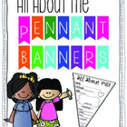 All about Me! {Pennant(s) Banner for back to school}