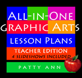 All-in-One Graphic Arts Lesson Plans ~ Full Curricula Book