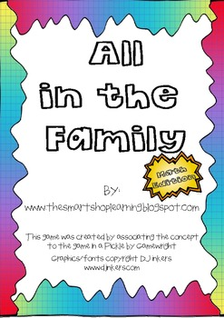 All in the Family 2nd Grade Math Vocabulary Edition