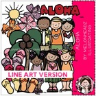 Aloha LINE ART bundle by melonheadz