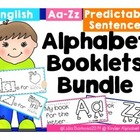 BUNDLE of Alphabet Booklets in English {predictable sentences}