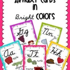 Alphabet Cards - Bright Colors in Cursive