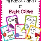 Alphabet Cards - Bright Colors