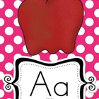 Alphabet Cards for Display BRIGHT POLKA DOT A to Z