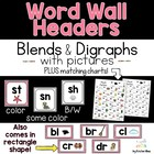 Alphabet Chart & Word Wall Headers (Pink)