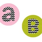 Alphabet Circles in Bright Colors with Chevron