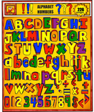 Alphabet Clip art rainbow colors:letters, numbers, and symbols
