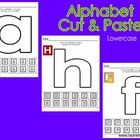 Alphabet Cut & Paste-Lowercase
