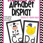 Alphabet Display: Black and White Polka Dots