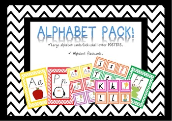 Alphabet Flash Cards & Posters Victorian Modern Cursive