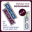 Alphabet Grid Bookmarks DIY - Free
