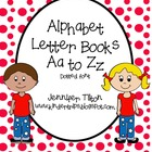 Alphabet Letter Aa to Zz Books-dotted font