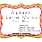 Alphabet Letter Match in Zaner Bloser