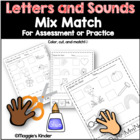 Alphabet Letters and Sounds Mix-Match for Kindergarten