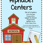 Alphabet Literacy Centers - Set of 6 Centers