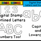 Alphabet Lowercase and Capital Letters and Numbers Digital