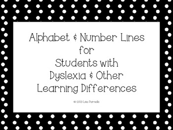 Alphabet & Number Lines for Students with Dyslexia